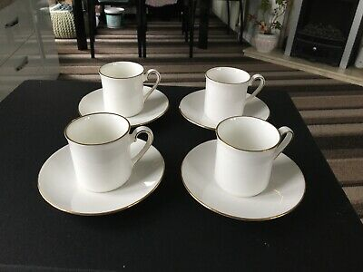 Vintage Queen Anne Bone China Expresso Size Cups And Saucers  • 18£