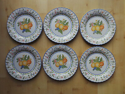 STAFFORDSHIRE POTTERY MARGARITA PATTERN 26cm DINNER PLATES X6   • 8.99£