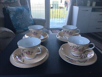 Vintage Royal Grafton Studio Craft Bone China Cups And Saucers • 27£