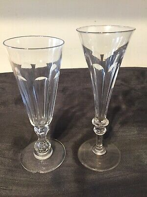 2 X Old Antique Vintage Old Unusual Glasses Or Vases 1 Chipped  • 3.99£