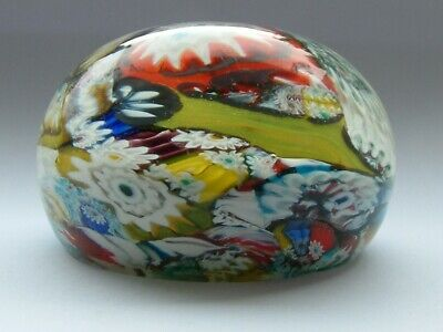Murano Millefiori Paperweight With Label. • 5.50£