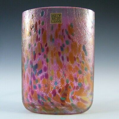 Isle Of Wight Studio 'Summer Fruits' Cranberry Glass Vase • 65£