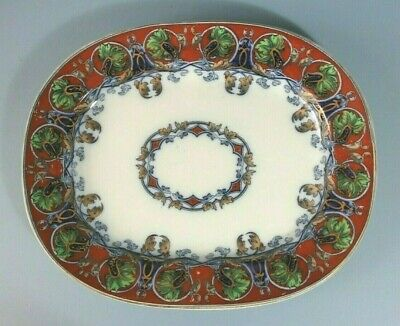 Rare Antique Flow Blue, Meat Dish Platter.  Nightingale  13.5  • 115£