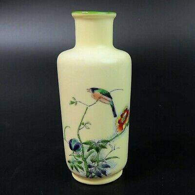 Antique Fenton Hand Painted Miniature Fine Porcelain Vase C.1900 • 36£
