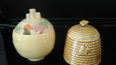 Carlton Ware  Preserve Pot With One Bee Hive  Pot • 15£