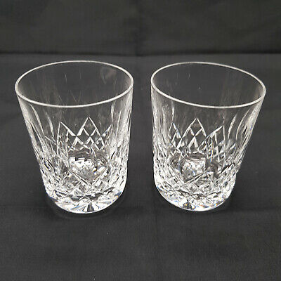 2 X Waterford Crystal Cut Lismore Tumblers Glasses 3.5 Inch (Signed) • 37.95£