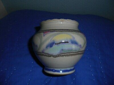 COLLARE HONITON POTTERY VASE-lovely Muted Colours In Perfect Condition • 14.99£