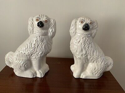 Pair Of Large Staffordshire Dogs • 24.60£