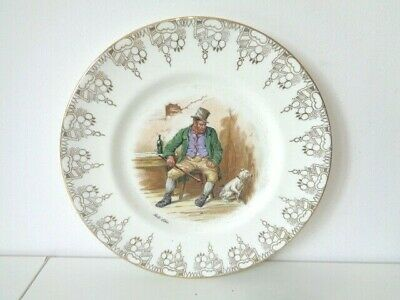 Royal Doulton Dickens Bill Sikes With Dog Plate 26cm Diameter • 10£