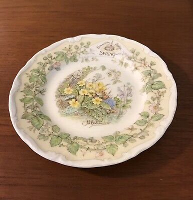 2 X Royal Doulton 'Brambly Hedge' Sideplates. • 5.50£