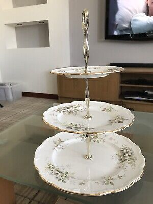 Royal Albert  Haworth   XL 3-tier Cake Stand ***IMMACULATE*** • 9.03£