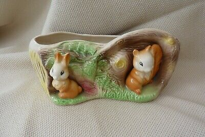 Withernsea Pottery  Fauna  Log Planter • 7.50£