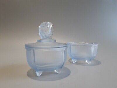 Walther & Sohne Frosted Blue Trinket Pots  • 24.50£