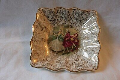 MIDWINTER Vintage Dancing Scene PIN - ASH Tray,  • 3£