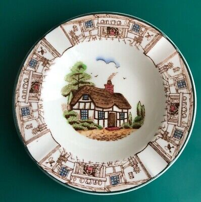 John Maddock Royal Vitreous Thatched Cottage Ware Ashtray Rd 742096 Hand Painted • 1.50£
