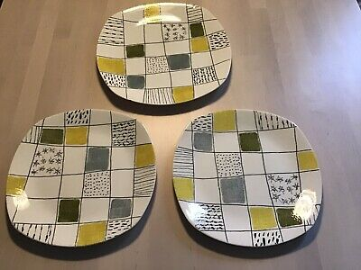 Midwinter Modern Chequers Pattern Plates - Terence Conran (3) • 35£