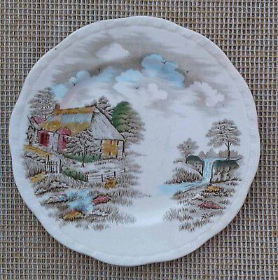 Alfred Meakin Plate - Famous Cottages - Izaak Walton's Cottage. • 4.99£