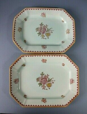 VINTAGE ADAMS CALYX WARE CHELSEA SPRAYS. 2 Oblong Serving Plates • 15£
