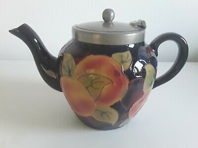 Rare Tublined  Royal Stanley Jacobean Ware Pomegranate Teapot - Perfect #1 • 95£