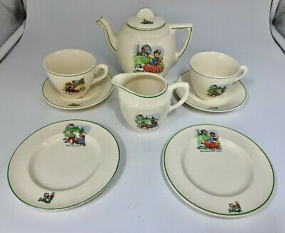 English Ceramic Childs Nursery Part Tea Set Circa 1930 • 85£