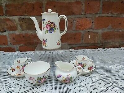 Cauldon China Floral With Butterflies Pattern Coffee Set • 70£