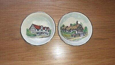 Pair Of Goss Shakespeare And Anne Hathaway Pin Dishes • 10£