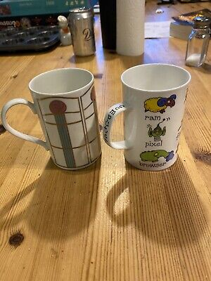 Two Dunoon Mugs Clyde Macintosh Computer Virus Made In Scotland • 7£