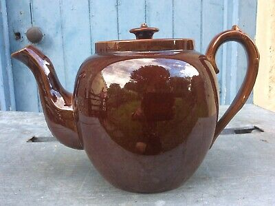 Huge Vintage Brown Betty Teapot, Holds 7 Pints, Free Uk Delivery • 29.99£