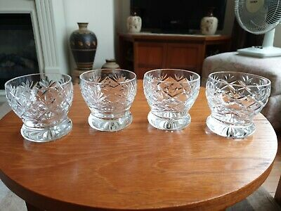 Webb Crystal Small Whiskey Tumblers Set Of Four (2.5 ×2.5 ) • 15£