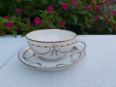 Jean Pouyat, Limoges Hand Painted Cup And Saucer • 25£