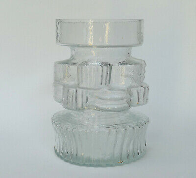 ALSTERFORS Glass VASE - Signed PER STROM Dated 71 - Mid Century Modern - MCM • 49.99£