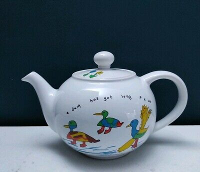 Vintage Rare Wade Duck Pattern Teapot Whirlow Hall Farm Trust 1.4 L • 11.99£
