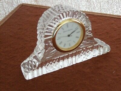 Tyrone Crystal Drumreagh Mantel Clock - Stamped - Ex Cond • 7.99£