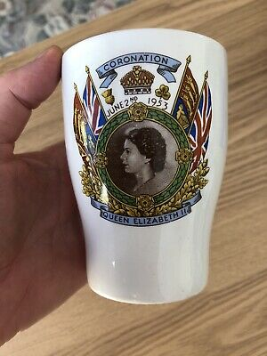 Commemorative China Beaker: Queen Elizabeth II 1953 Coronation: Kent/ Invicta • 8£