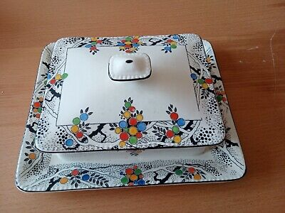 Crown Ducal Ware Butter Dish Acacia • 30£