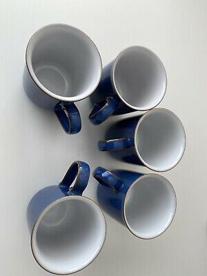 Denby Imperial Blue 5 X Straight Sided  Mugs • 26£