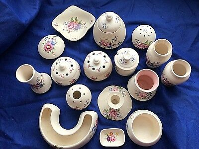 16 Pieces Of Axe Vale Pottery Devon England • 30£