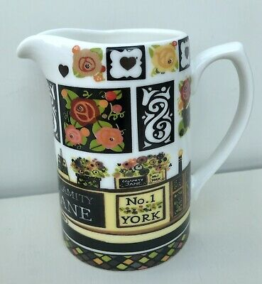 Queens JULIE DODSWORTH Calamity Jane 1/2 Pint Jug Fine China Canal Style Ex Cond • 4.99£
