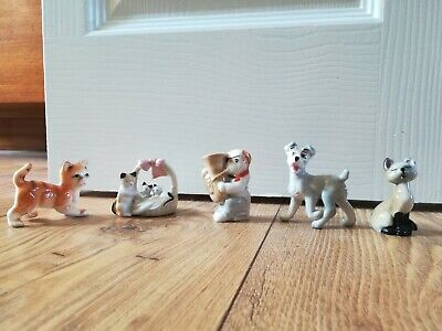 Wade Lady And The Tramp Miniature Figurines Cats Dog Playing Trombone • 9.99£