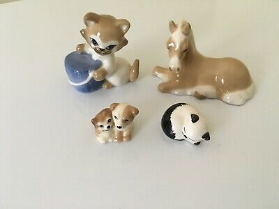 4  Szeiler Animal Figurines In Excellent Condition  Free Uk Postage • 22.50£
