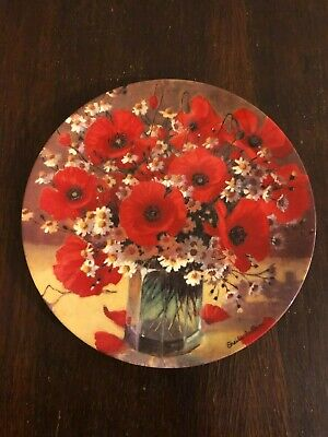Wedgwood 'Poppy Pageant' Collectable Bone-china Plate-unboxed • 2.70£