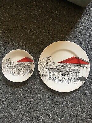 Poole Pottery Rome Dinner Plate & Bowl • 2.20£