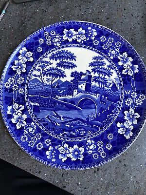 Copeland Spode`s Tower England Blue And White Serving  Plate Tower And Bridge • 6.50£
