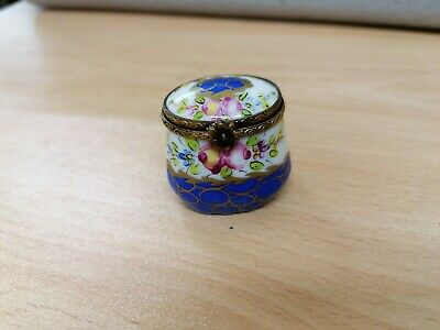 Limoges Peint Main Trinket Box France Pocelain • 10.50£