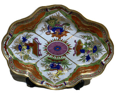 Chamberlains Worcester Dragons In Compartments Pattern Lovely Dessert Dish C1800 • 41£