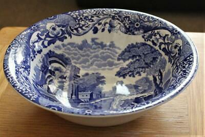 A Large Vintage Pre Owned & Used Spode Blue Italian Pattern Bowl • 8£