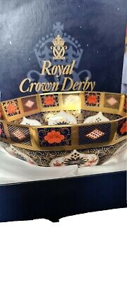 Royal Crown Derby Old Imari 1128 LXI  Solid Gold Band 8  Small Octagonal Bowl  • 900£