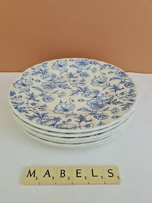 CHURCHILL ~BLUE & WHITE POPPIES~  Salad Plates X 6 • 24.99£