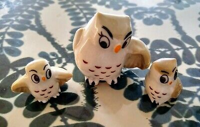 Wade Owl Mother And Two Babies In Excellent Condition • 22.50£