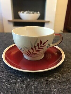 Wade Woodmist Red Cup Saucer And Side Plate. • 4.75£